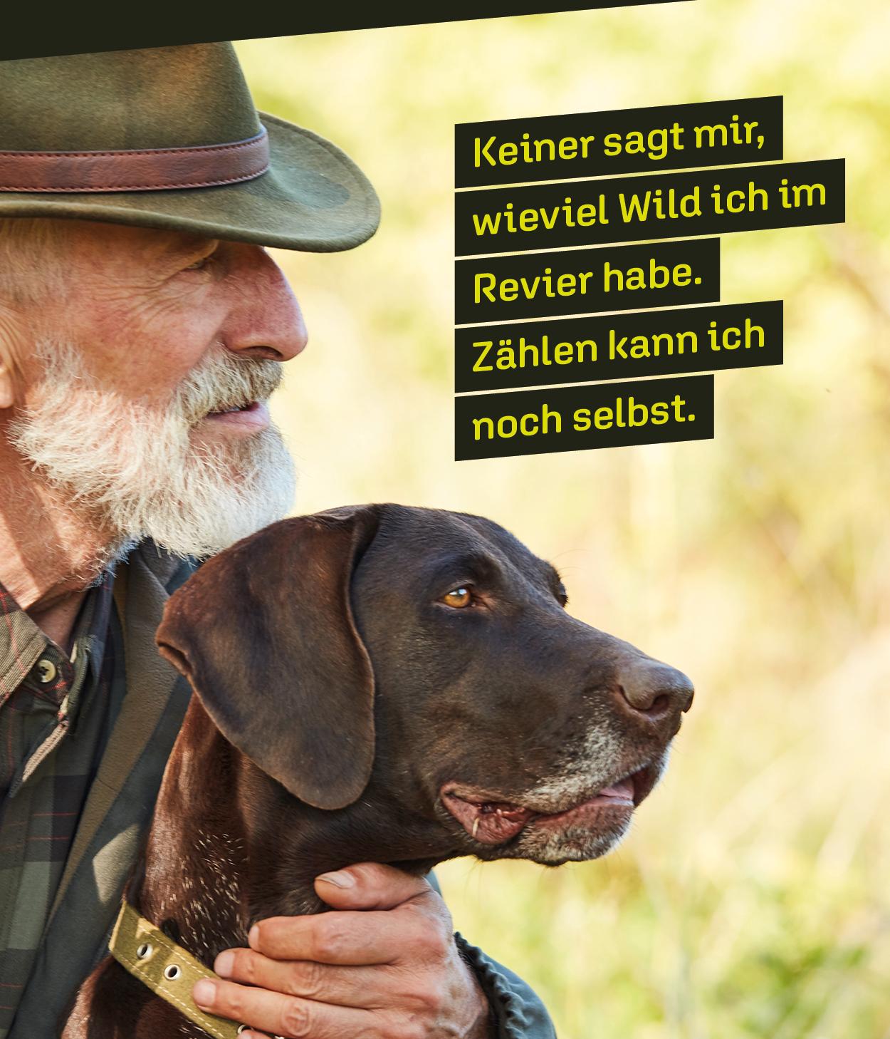 Wildtiermonitoring Jäger und Hund